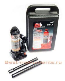 T90404 Домкрат бутылочный  4 т с клапаном  h min 194 мм, h max 372 мм в кейсе BIG RED