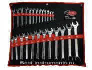 5261 Набор ключей комбинированных Rock FORCE на полотне, 26 предметов.