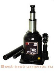 TF0602 Домкрат бутылочный с двумя штоками,  6 т с клапаном  h min 215 мм, h max 485мм  BIG RED